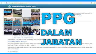 yaitu singkatan dari Pendidikan Profesi Guru TAS:  SERGUR ID: Info Pendaftaran PPG Tahun 2020
