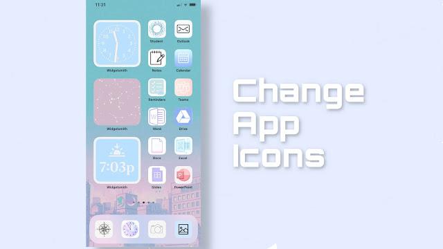 Change app icons on iPhone