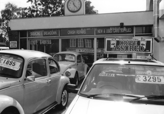 Photograph of Brookmans Park Car Sales 42a Bradmore Green, taken by N. Akers and digitised by Mike Allen