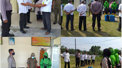 Polsubsektor Bersama Pemerintah Kecamatan Pelalawan dan Tim Gugus Memutus Mata Rantai COVID-19