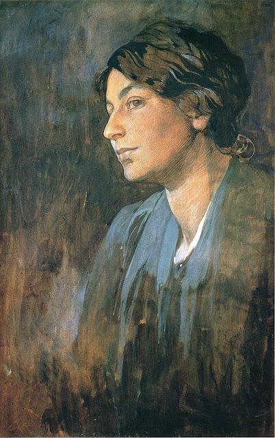 Альфонс Муха - Портрет Марушки, жены художника. 1905
