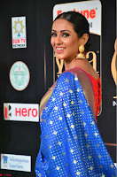 Priya Shree in Beautiful Blue Saree at IIFA Utsavam Awards 2017  Day 2    HD Exclusive Pics 09.JPG