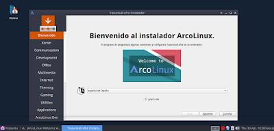 Bienvenido al instalador Arcolinux (Calamares)