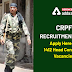 CRPF Recruitment 2020: Apply here for 1412 HC vacancies, Few days Left Hurry!!