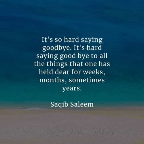 Goodbye quotes that'll tell you more about saying farewell