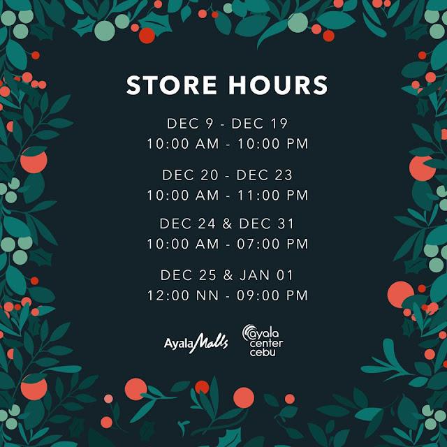 Ayala Malls (Ayala Center Cebu) Mall Hours 2019