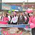 Con caminata conmemoran autoridades municipales lucha contra el cáncer de mama