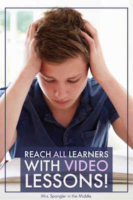 How do Video Lessons help to Reach all Learners?  Find out here!  #teaching #ideas #languagearts