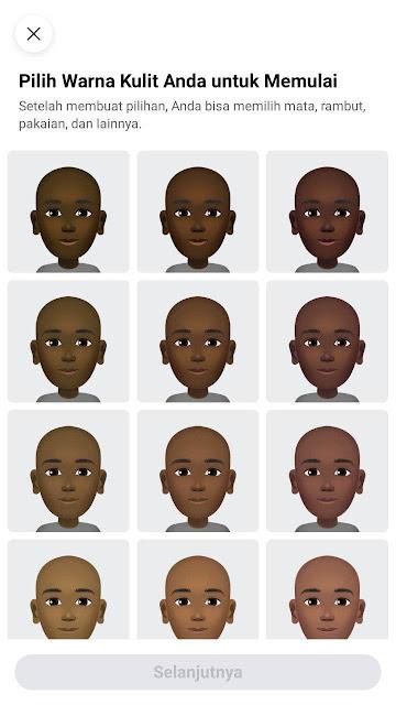 Memilih warna kulit Avatar