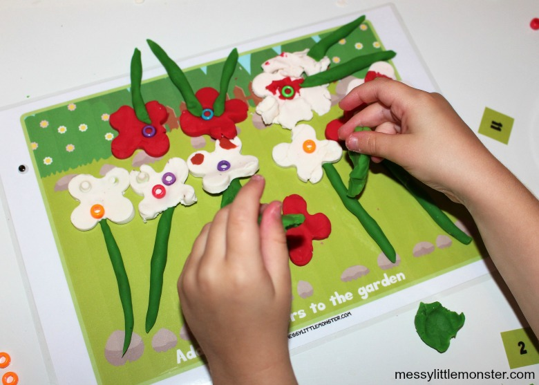 counting number playdough mats for preschoolers