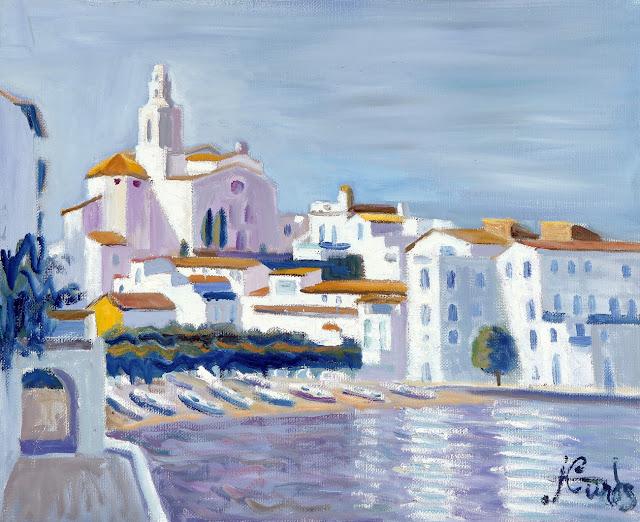 Jordi Curós Ventura, Vista de Cadaqués, Cadaqués en Pintura, Painting of Cadaqués,