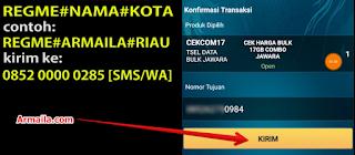Cara Daftar dan Isi Paket 17GB Telkomsel kirim cekcom17 gb.png