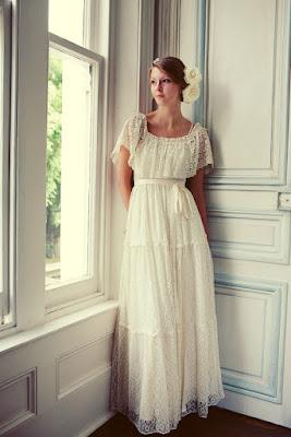 vestido noiva retro vintage anos 10 30 20 lindo simples renda
