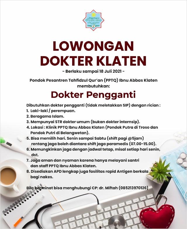 Loker Dokter- PPTQ Ibnu Abbas Klaten