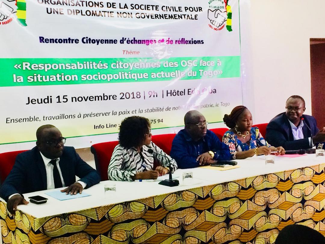 Togo / Crise sociopolitique : Les OSC pour une diplomatie non-gouvernementale inquiètes du ralentissement des activités économiques