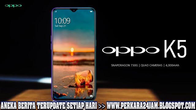 Seri Oppo K5 Hadir Dengan Kamera 64 MP Dan Snapdragon 730G