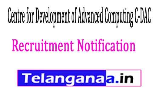 Centre for Development of Advanced Computing C-DAC Thiruvananthapuram Recruitment Notification 2017