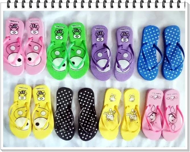 sandal spon murah online terbaru