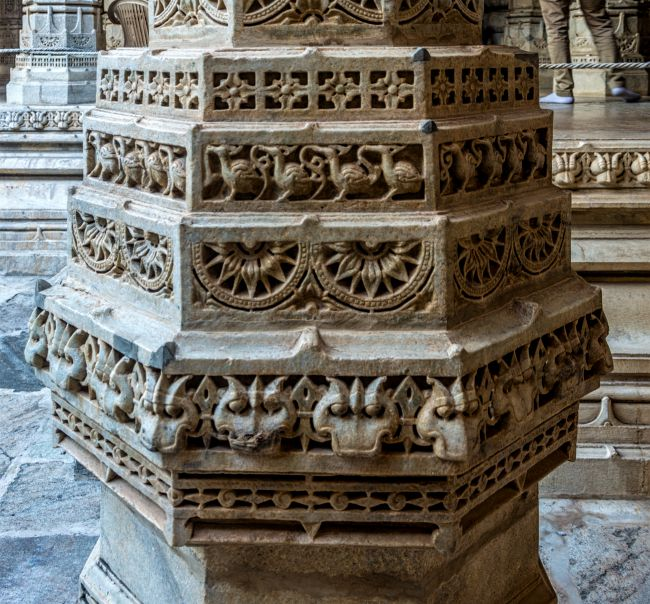 Intericately carved Pillar