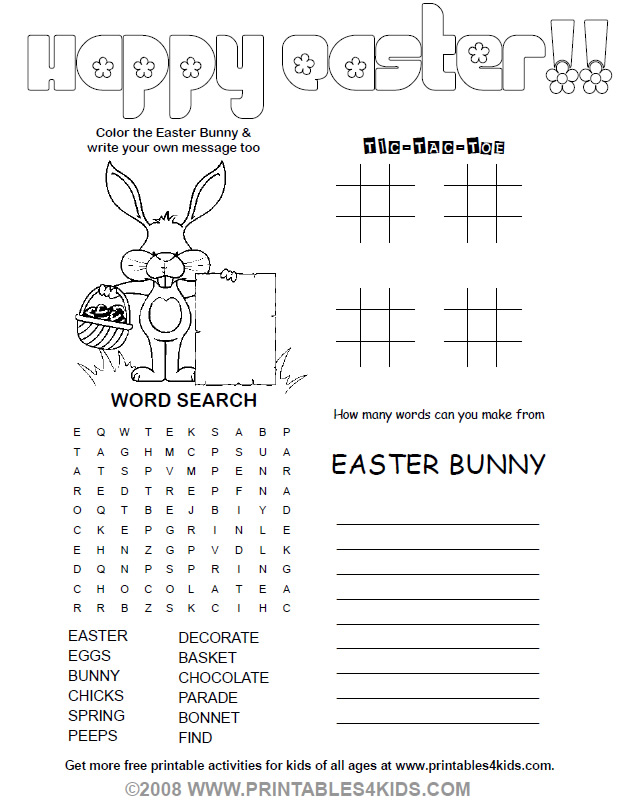 Printable Easter Games For Preschoolers – Merry Christmas And Happy ...