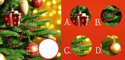 Figure: O Christmas tree, o Christmas tree! Can you find the right piece to complete this picture?