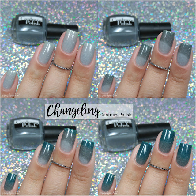 Holy Shift Thermal Nail Polish Lovers Group Custom ft. Contrary Polish