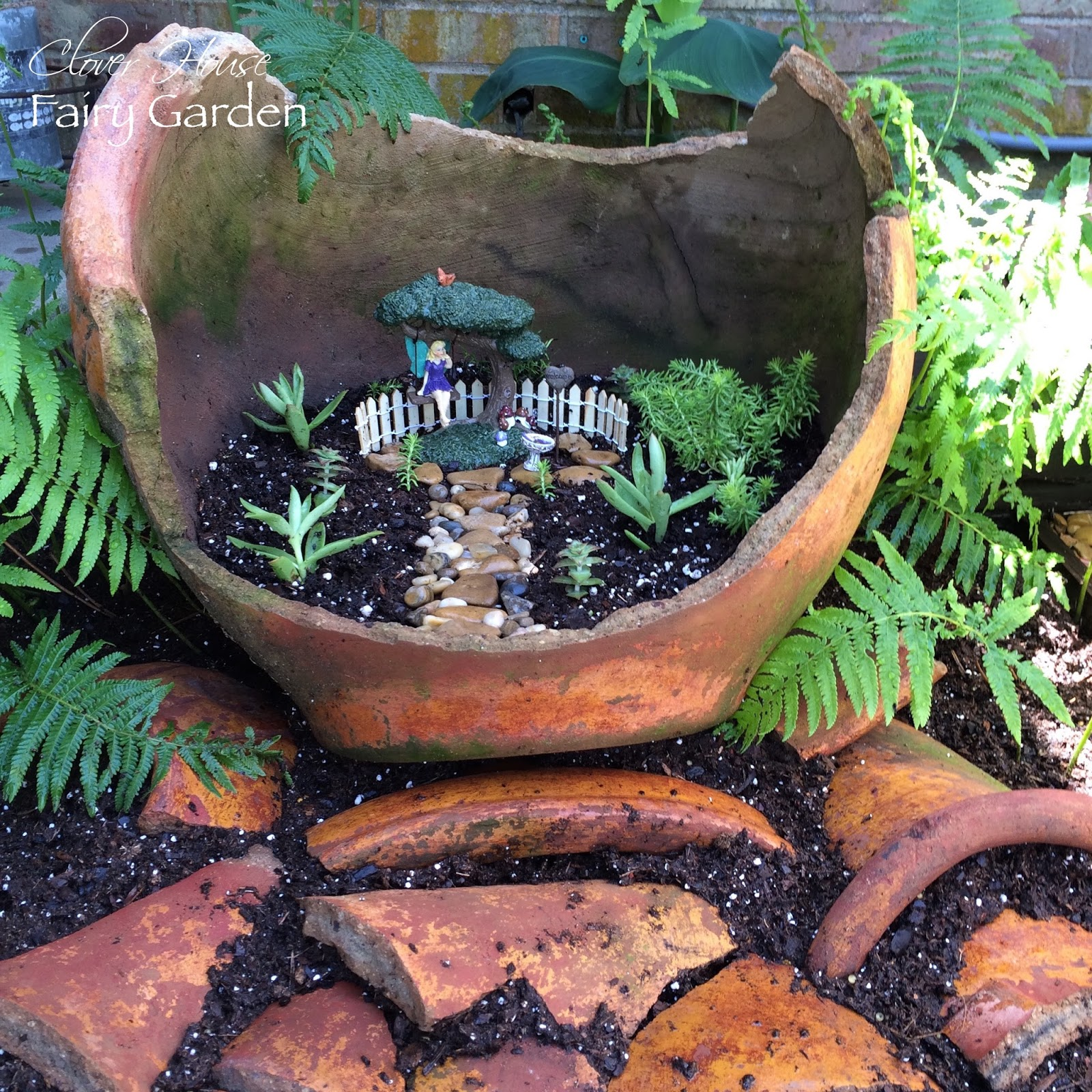 Clover house how to create a recycled fairy garden for How to create a garden