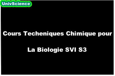 Cours Techeniques Chimique pour La Biologie SVI S3.