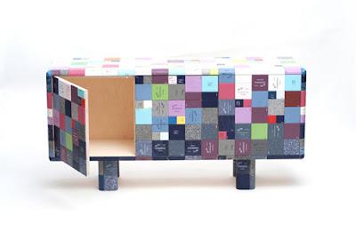 Mueble con material reciclado