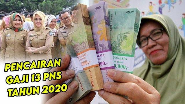 Gaji 13 PNS, TNI, POLRI dan Pensiun Cair Agustus 2020, Berikut Daftar Yang Berhak Terima Gaji ke-13
