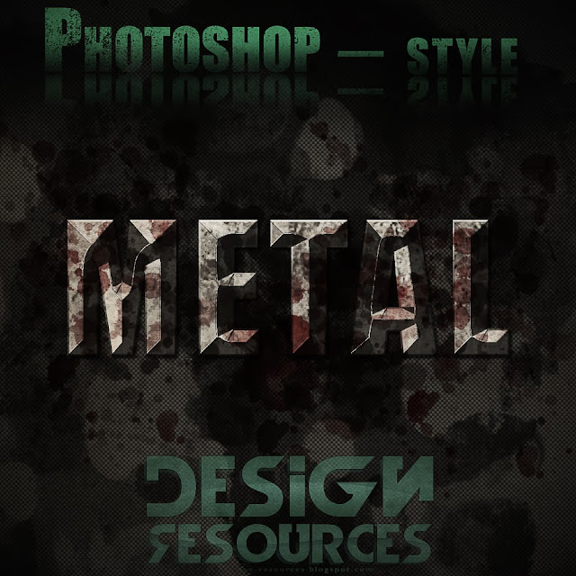 3 METAL Photoshop Styles