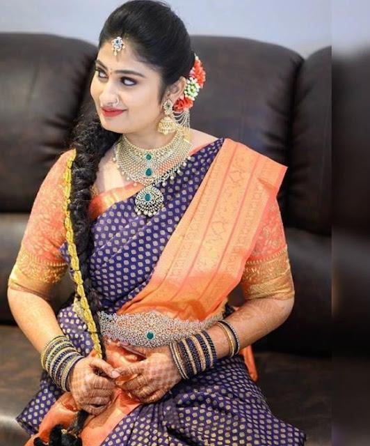 Bride in Heavy Choker Gold Jada