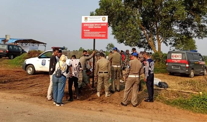 Satpol-PP Kabupaten Tangerang Resmi Tutup Galian Tanah di Bantar Panjang Tigaraksa