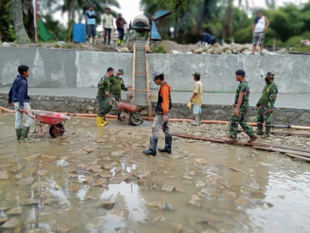 TMMD Ke-112 Kodim 0207/Simalungun Tingkatkan Swasembada Pangan Dan Pertahanan Wilayah
