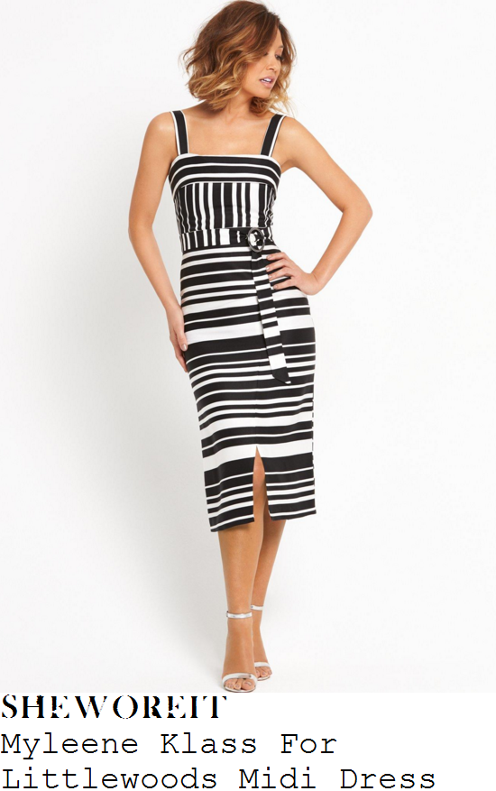 myleene-klass-myleene-klass-for-littlewoods-black-and-white-stripe-print-sleeveless-pencil-midi-dress