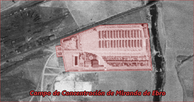 Vista aérea Campo de Concentración de Miranda de Ebro