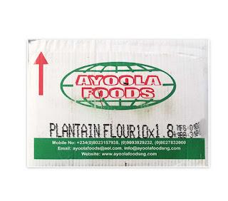 Ayoola Plantain Flour 1.8kg x 10 on white background