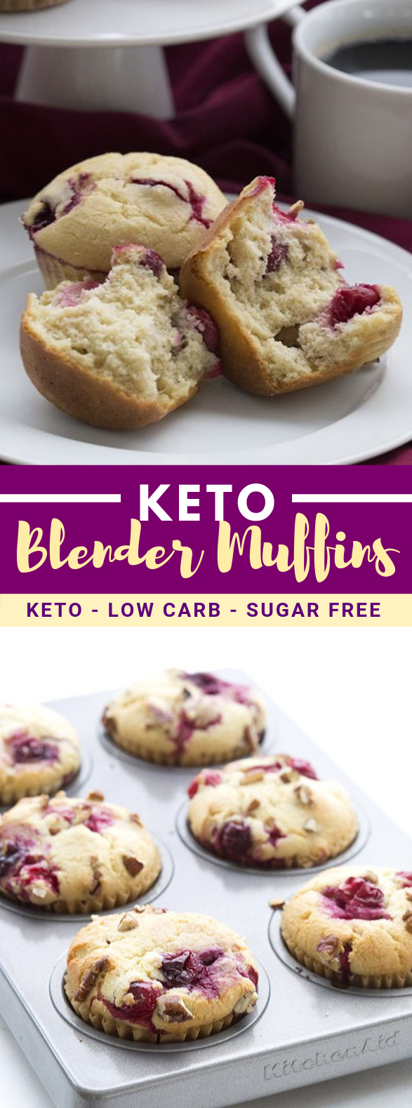 EASY LOW CARB CRANBERRY MUFFINS #healthy #diet