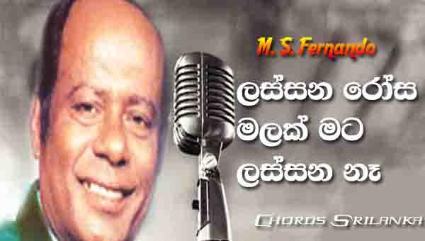 Lassana Rosa Malak Chords, M S Fernando Songs, Lassana Rosa Malak Song Chords, M S Fernando Songs Chords, Old Sinhala Songs,