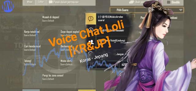 Cara Memasang Voice Chat Loli 2 Bahasa [KR&JP] di PUBG Mobile Terbaru