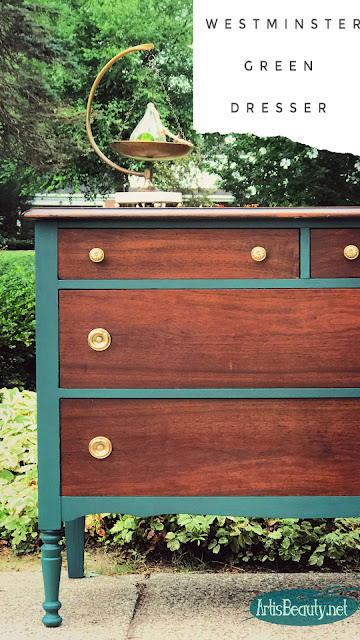 old free vintage dresser makeover using paint refresh recycle upcycle do it yourself before and after