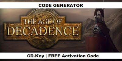 The Age of Decadence key, The Age of Decadence code, The Age of Decadence license key, The Age of Decadence product key, The Age of Decadence activation key