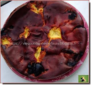 Vie quotidienne de FLaure : Flan aux pruneaux, raisins secs et cerises séchées