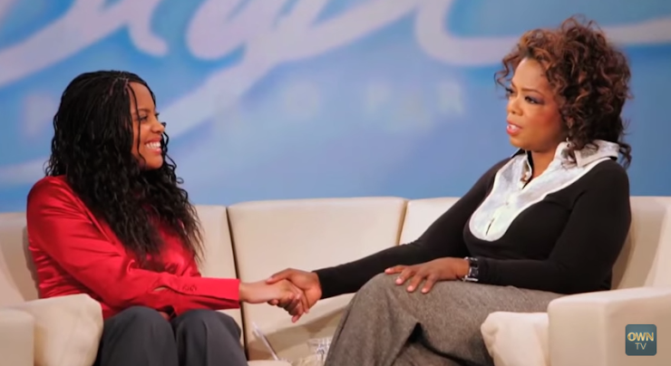 Jasmine Lawrence y Oprah Winfrey