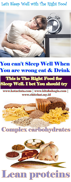 Infografis: Let's sleep Well with Right Food