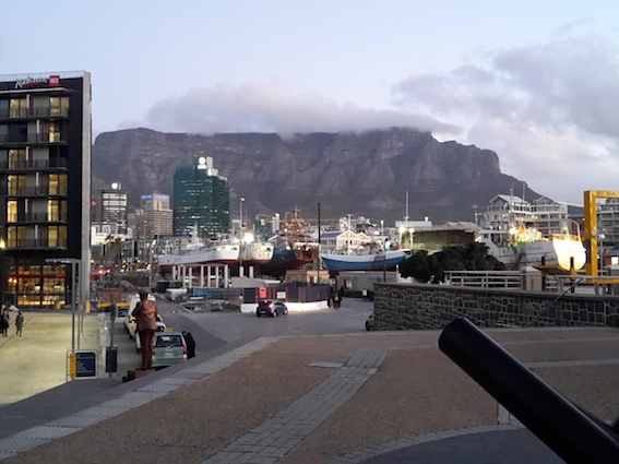 View of Table Mountain from the Cape Town Waterfront