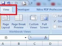 Menampilkan Tab View Saja Pada Ribbon Excel - Custom UI Editor