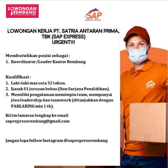 Lowongan Kerja Koordinator Leader Sap Express Rembang