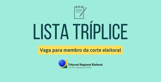 Resultado de imagem para TJ define lista tríplice para juiz suplente do TRE/RN