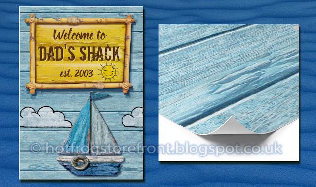 Photograph of paper print Driftwood Beach design